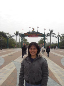 Gina in Disneyland