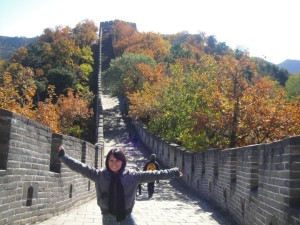 Gina at the Great Wall